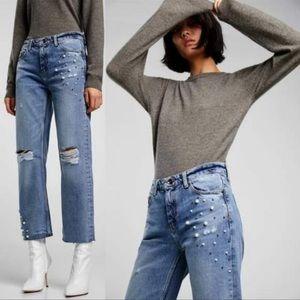 Zara Jeans Pearl Boyfriend